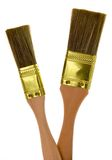 Two Paint Brushes Royalty Free Stock Images