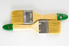 Two paint brushes closeup Stock Image