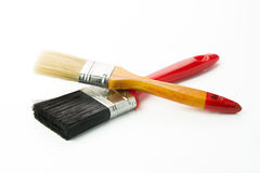 Two paint brushes Stock Photo