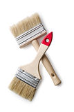 The two paint brushes on white background Stock Photos
