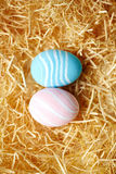 Two painted eggs Royalty Free Stock Images
