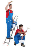 Two painter working Stock Photography