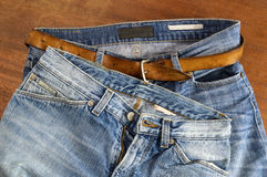 Two pair of blue jeans Stock Image