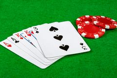 Two pair card hand Stock Photography