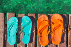 Two pair of flip-flops Stock Photography