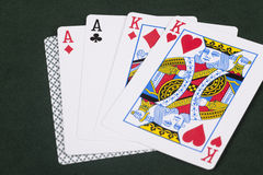 Two Pair Poker Hand Stock Photo