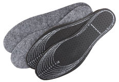 Two pair of universal insoles with lines for cutting Stock Photos