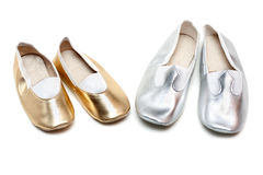 Two pairs ballet baby footwear Royalty Free Stock Image
