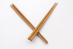Two pairs of bamboo chopsticks Stock Image