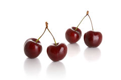 Two pairs cherries Royalty Free Stock Photos