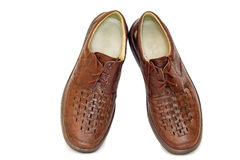 Two pairs of comfortable shoes : for men and for women. Royalty Free Stock Photos