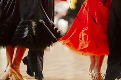 Two pairs dancers. In ballroom dance championship Stock Images
