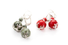 Two pairs decorative earrings Stock Image