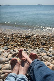 Two pairs of  feet Royalty Free Stock Photography