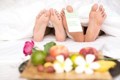 Two pairs of feet Stock Image