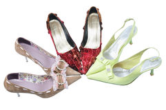 Two pairs girls shoes Royalty Free Stock Photo