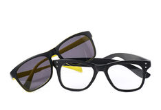 Two pairs of glasses isolated Royalty Free Stock Image