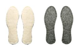 Two pairs of insoles for shoes Royalty Free Stock Image