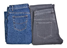 Two pairs of jeans Stock Image
