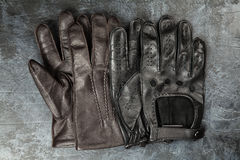 Two pairs of leather gloves Royalty Free Stock Photo