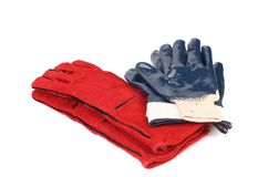 Two pairs of rubber gloves Royalty Free Stock Photos