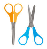 Two Pairs of Scissors Art Studio Tools Royalty Free Stock Image