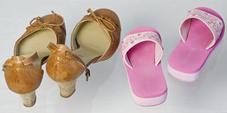 Two pairs of shoes Royalty Free Stock Images
