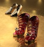 Two pairs of shoes Stock Photography