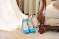 Two Pairs of Shoes Royalty Free Stock Photos