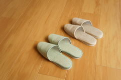 Two pairs of slippers Royalty Free Stock Image