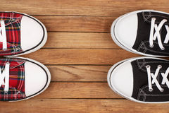 Two pairs of sneakers Stock Image