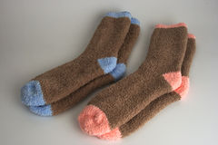 Two pairs of socks. Side by side Royalty Free Stock Photo