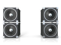 Two pairs of sound speakers Royalty Free Stock Images