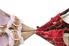 Two pairs woman shoes Stock Photo