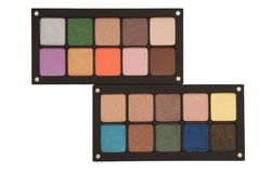 Two palettes of eye shadow royalty free stock image