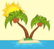 Two palm tree illustration Stock Photos