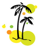 Two palms Royalty Free Stock Photo