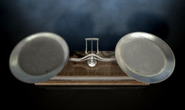 Two Pan Balance Scale Royalty Free Stock Photography