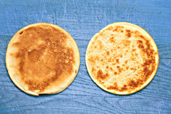 Two pancakes Royalty Free Stock Images
