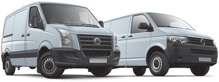 Two panel vans Stock Photo