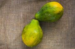 Two papayas Royalty Free Stock Image