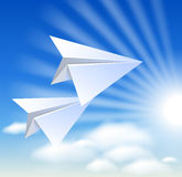 Two paper airplane Royalty Free Stock Image