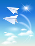 Two paper airplane Stock Photography
