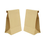 Two paper bag isolated on white background Royalty Free Stock Image