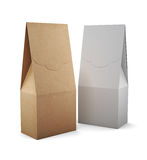 Two paper bag  on white background. 3d rendering. Two paper bag for tea or coffee  on white background. 3d rendering Stock Photos