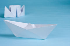 Two paper boats Royalty Free Stock Images