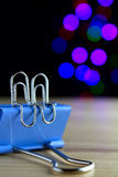 Two paper clip, lovers Stock Photo