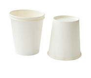 Two paper cup (clipping path) Stock Photo
