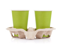 Two paper cups Royalty Free Stock Photos