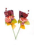 Two Paper Flower Art. Used in wedding ceremonies as gift stock photo